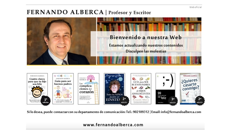 Fernando Alberca, autor del libro: 'Todos los niños pueden ser Einstein'
