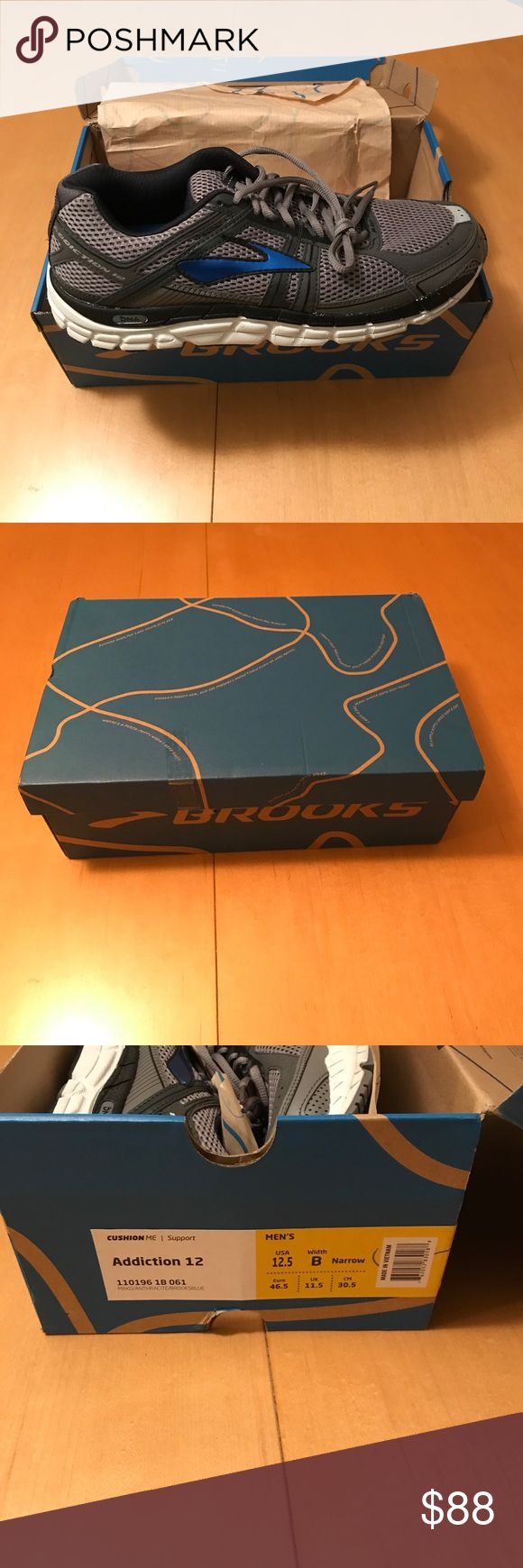 Men's Size 12.5 Addiction 12 Brooks Running Shoes Size 12.5 B Width (Narrow) brooks running shoes. Brand new in box, NWT Brooks Shoes Athletic Shoes