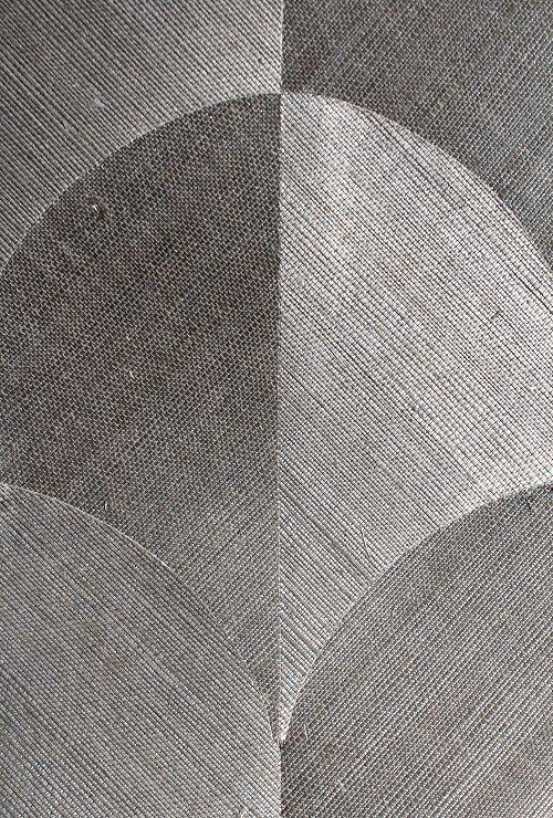 Silver Patterned Grassweave Wallpaper 915mm wide