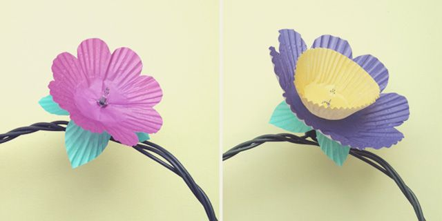 {The Ardent Sparrow}: Do Fun Things {Cupcake Flower Lights}