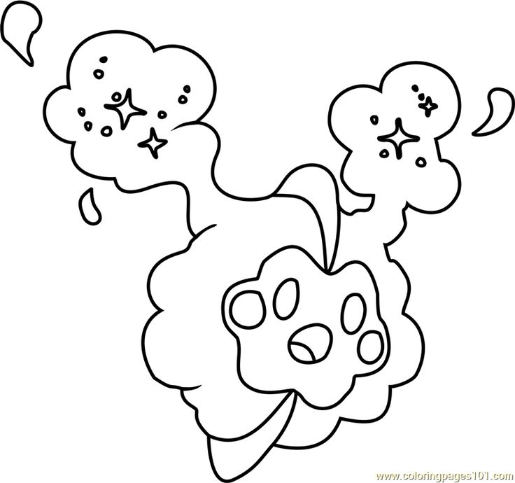 Cosmog Pokemon Sun And Moon Coloring Page Moon Coloring Pages