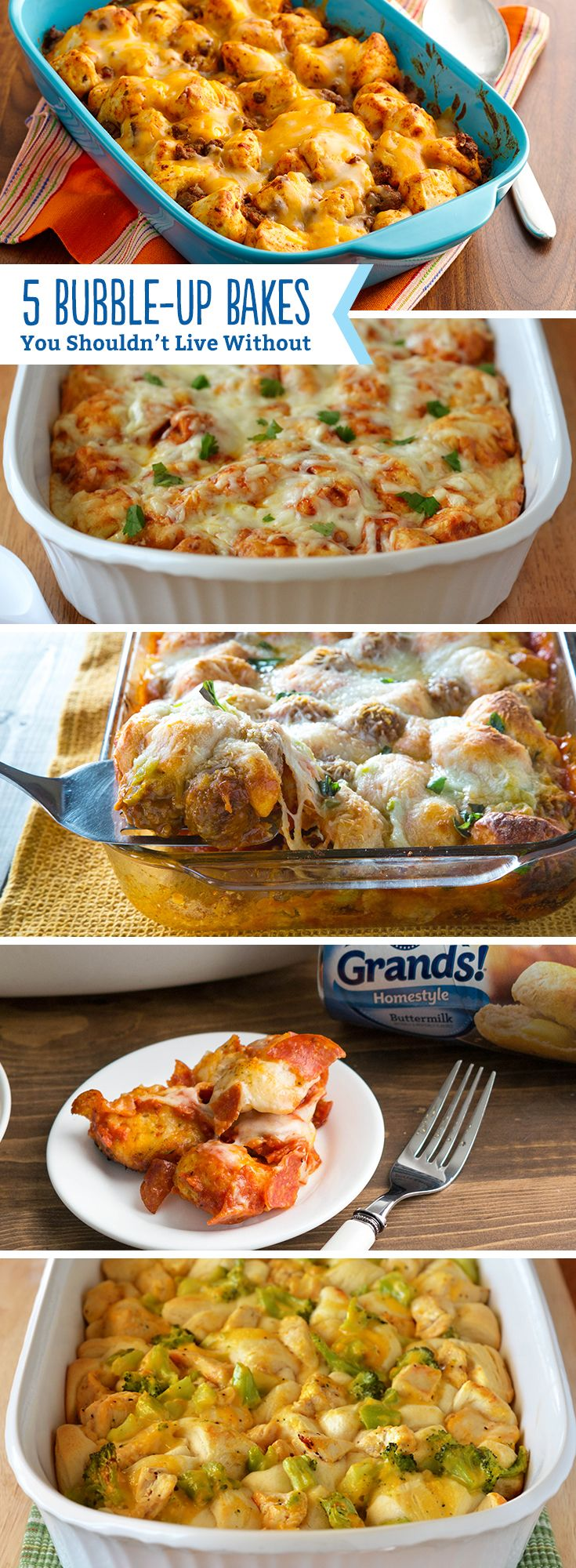 "Bubble-up bakes have a special place in our heart! You can't live with out these easy, delicious and tasty meals. They basically define ""weeknight dinner""."
