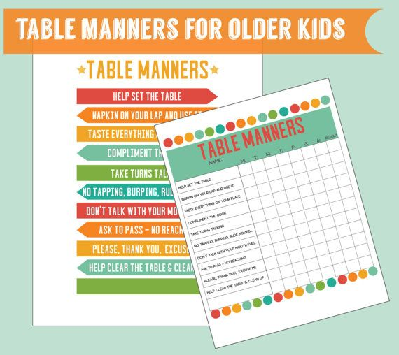 17 best ideas about table manners on pinterest table