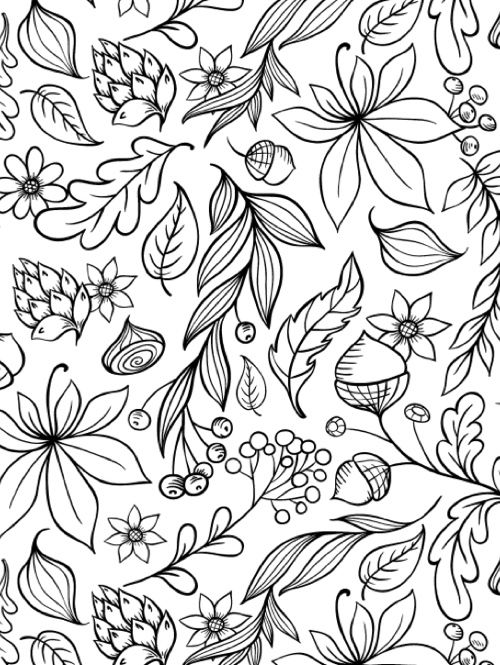coloring pages fall themed - photo#26