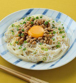 しらす納豆たまごかけうどん | うどんレシピ | テーブルマーク株式会社