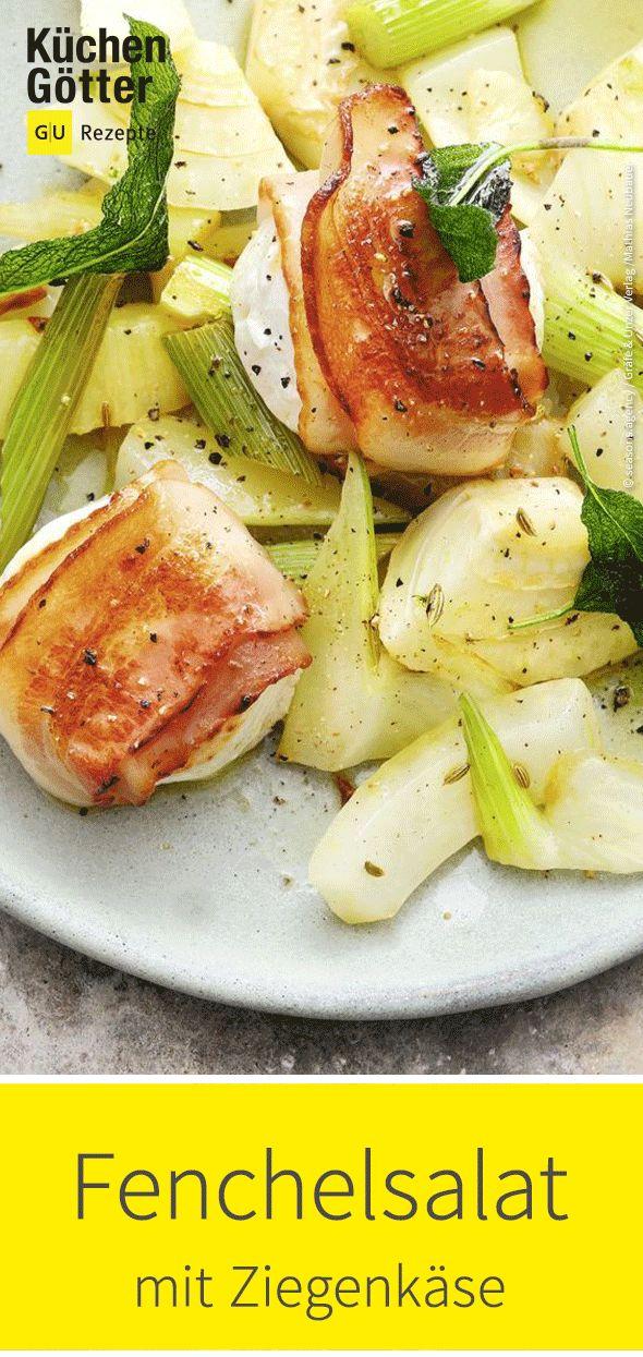 Fenchelsalat mit Ziegenkäse   – Salat-Rezeptideen
