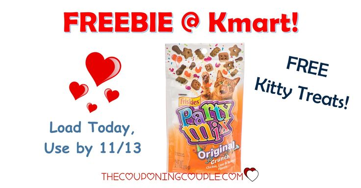 HOT FREEBIE! Get a FREE Friskies Party Mix Treats at Kmart! What a great treat for your furbaby!  Click the link below to get all of the details ► http://www.thecouponingcouple.com/free-friskies-party-mix-treats-kmart/ #Coupons #Couponing #CouponCommunity  Visit us at http://www.thecouponingcouple.com for more great posts!