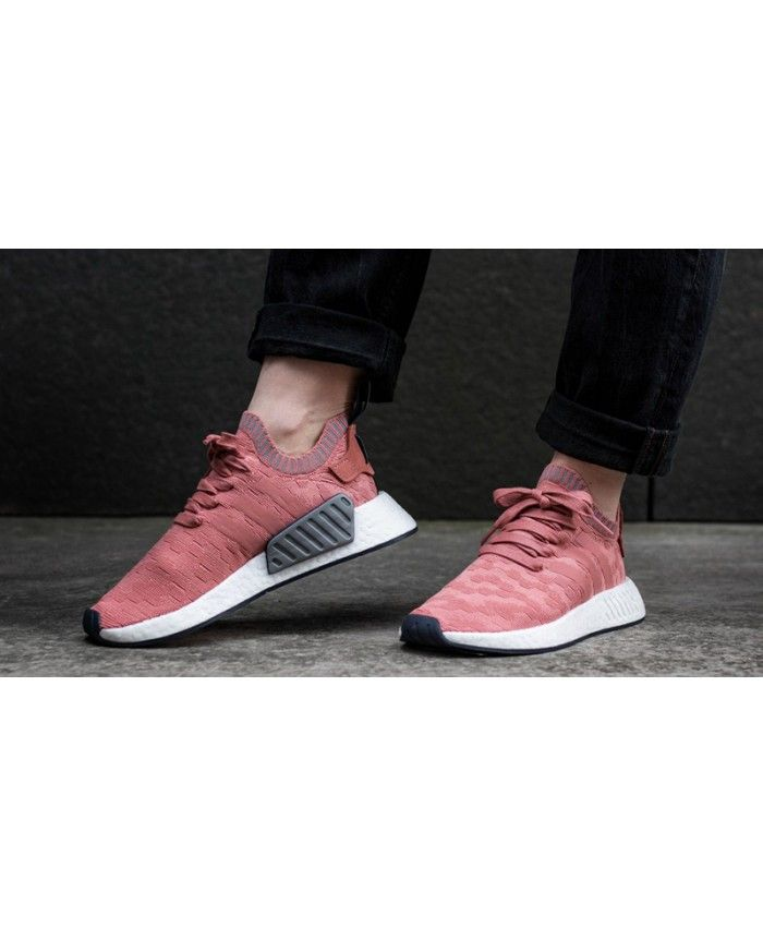 Adidas NMD Womens R2 Trace Raw Pink Green | Adidas nmd pink