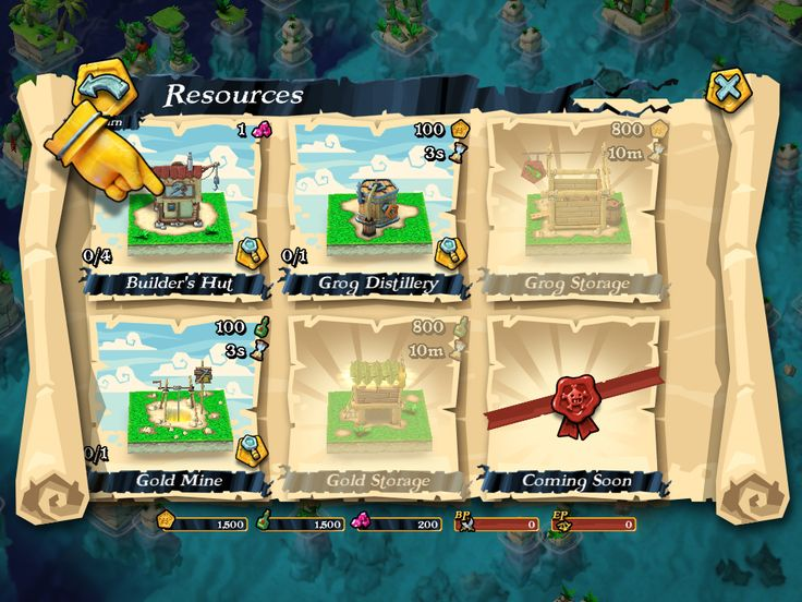 Plunder Pirates by Midoki - Shop Resources - Game UI HUD Interface Art iOS Apps