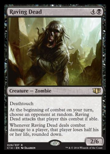 Raving-Dead-x4-Magic-the-Gathering-4x-Commander-2014-mtg-rare-card-lot-zombie