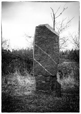 Törnbystenen. Rune stone in Färingsö, Sweden