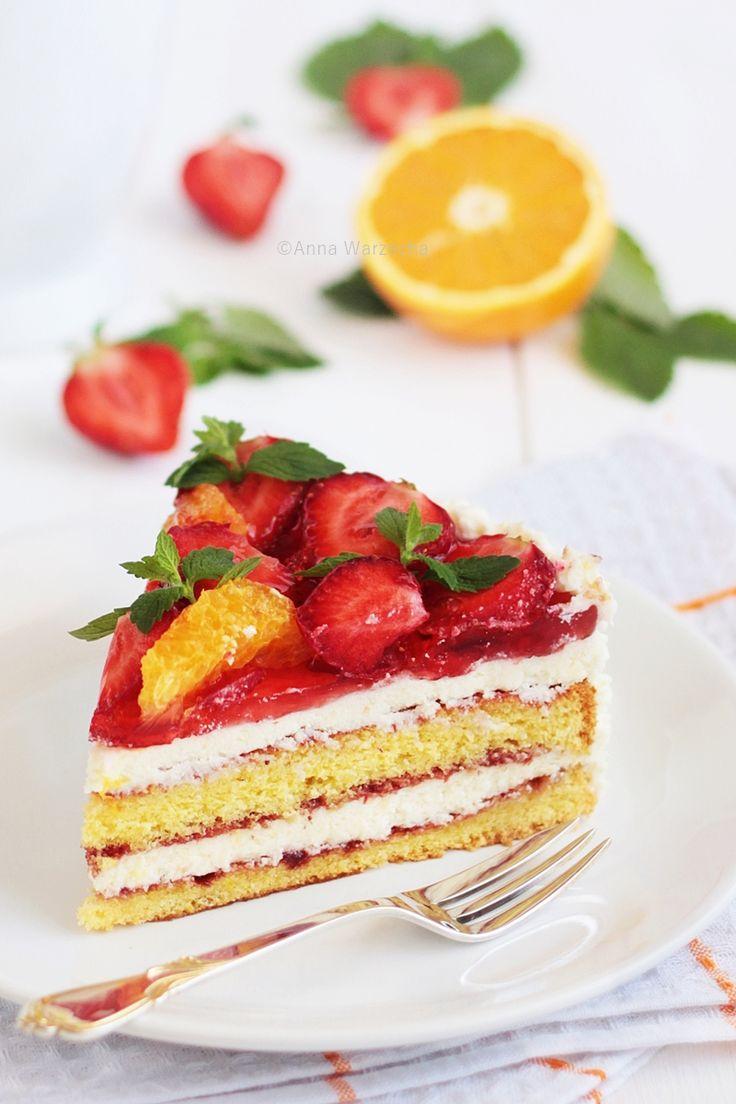 Wiem co jem: Tort pomarańczowo-truskawkowy