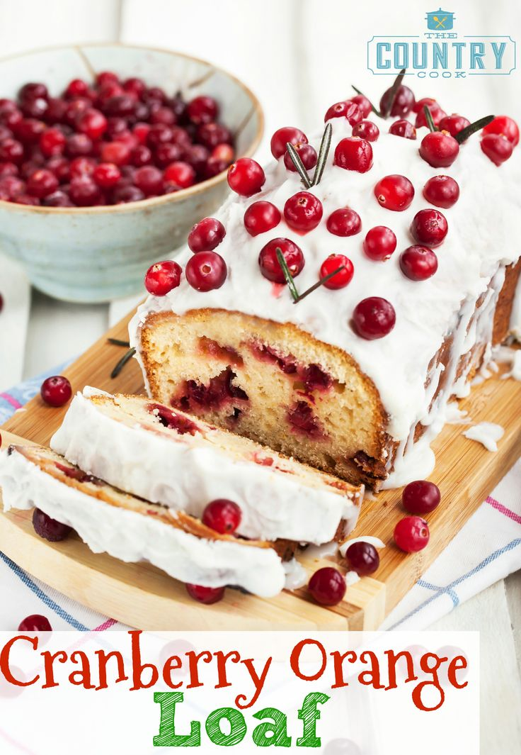 Cranberry Orange Loaf is moist and chockfull of cranberries with a light orange taste. The glaze on top is perfection. So yummy!