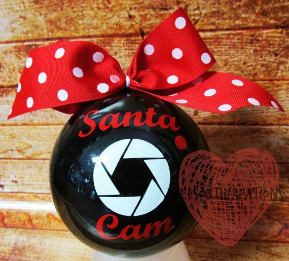 Santa Cam Christmas Ornament by DeepSouthSC on Etsy