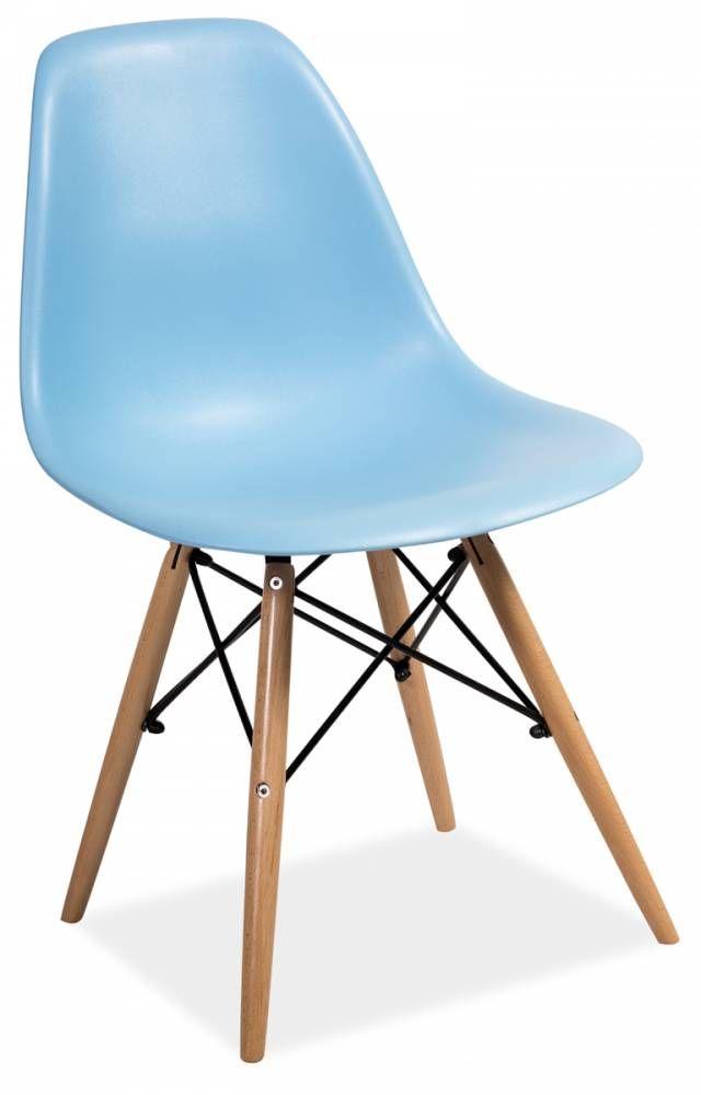 Stolička ENO, buk/modrá