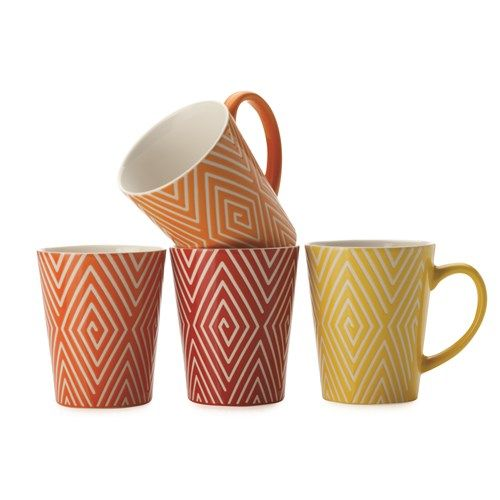 "Maxwell & Williams Graphique Maze Mug 440ml Set of 4 Gift Boxed- ""house"""