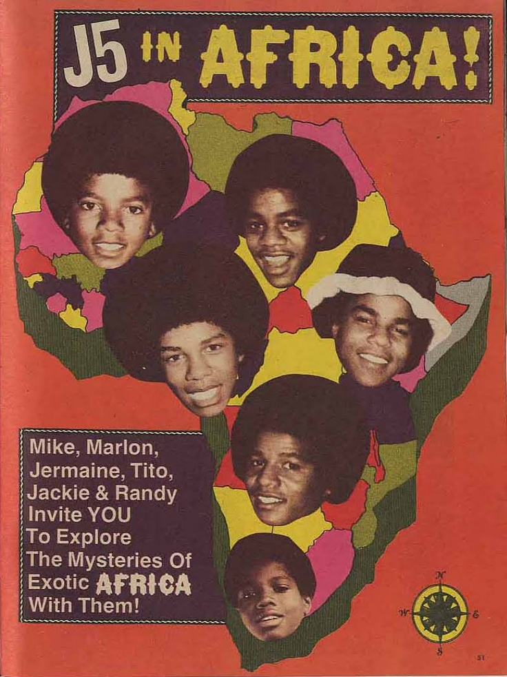 Jackson Five in Africa is a documentary film that followed the brothers' 1974 tour in Senegal.