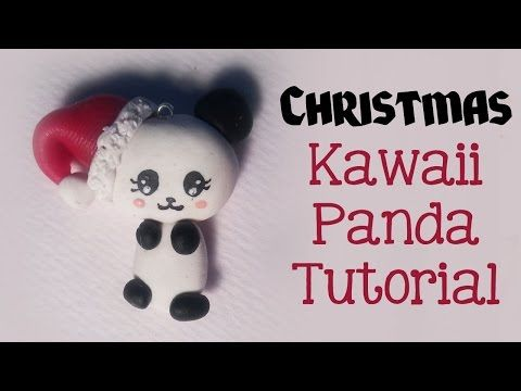 FIMO VRIJDAG Kerst Panda, Schattige Polymeer Klei Chibi - YouTube