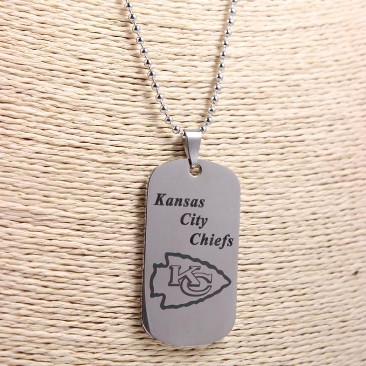Kansas City Chiefs Dog Tag Pendant Necklace – Best Funny Store