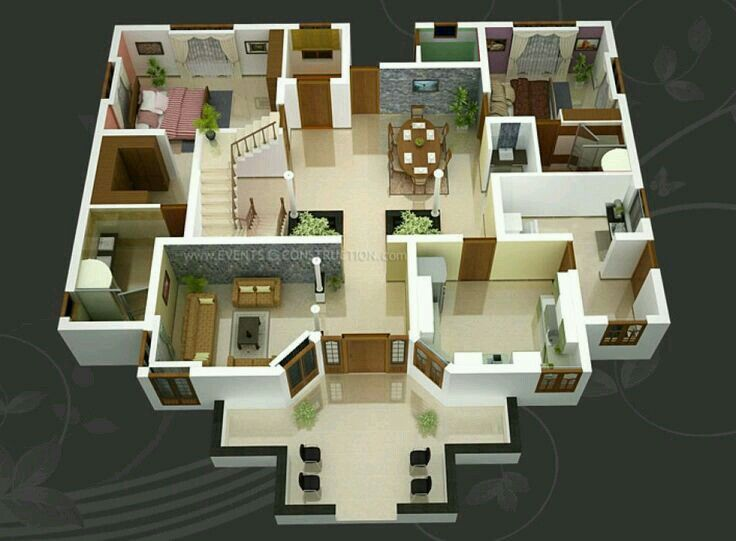 Pin By Nanda Ayu On Designs Houses Small House Design Home Design Plans 3d House Plans
