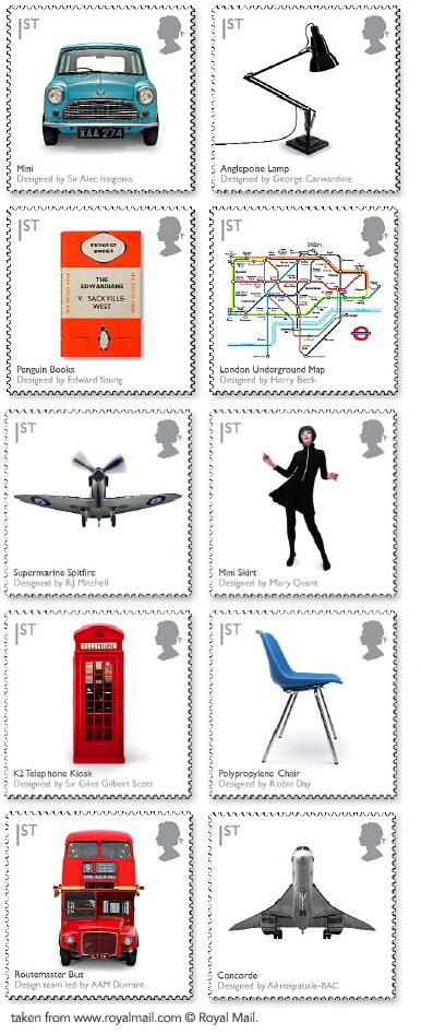 British Design Classics Royal Mail Postage Stamps, 2009