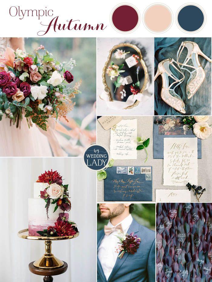Pacific Northwest Fall Wedding Inspiration in Slate Blue and Berry   http://heyweddinglady.com/pacific-northwest-fall-wedding-inspiration/