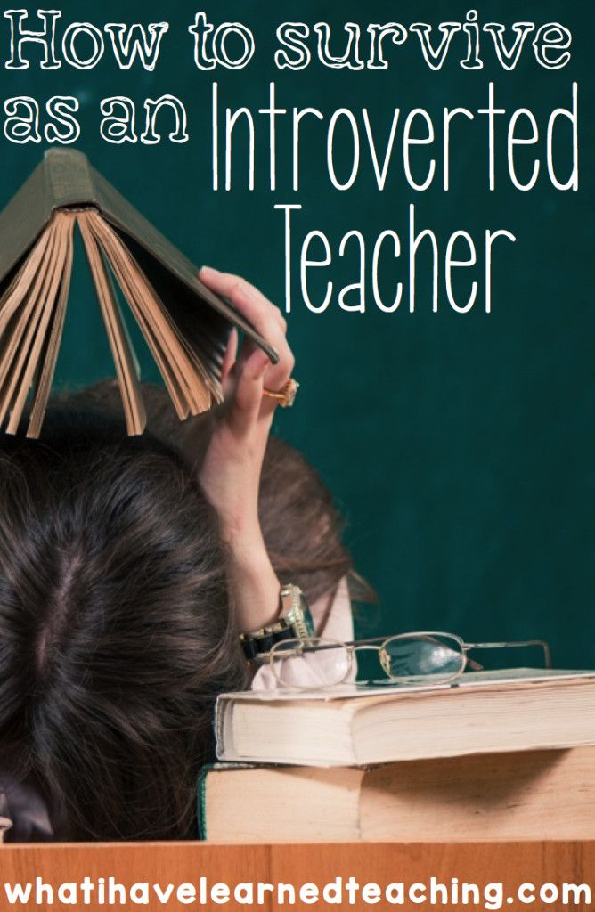 How to Survive as an Introverted Teacher? Re-pinned by #Europass