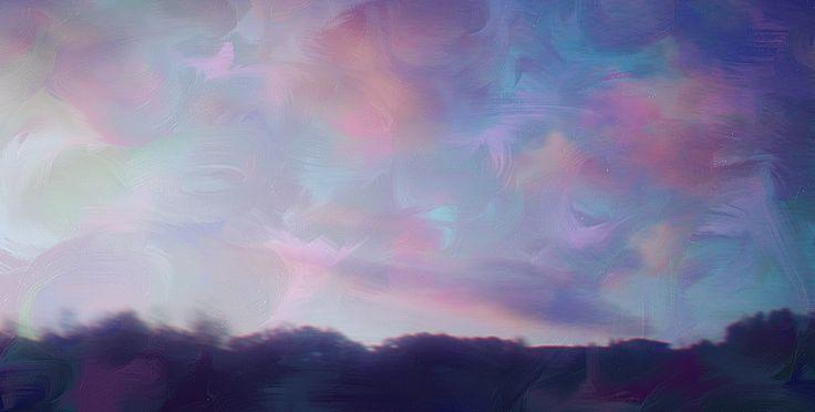 landscape, mountains, sky, bubble view