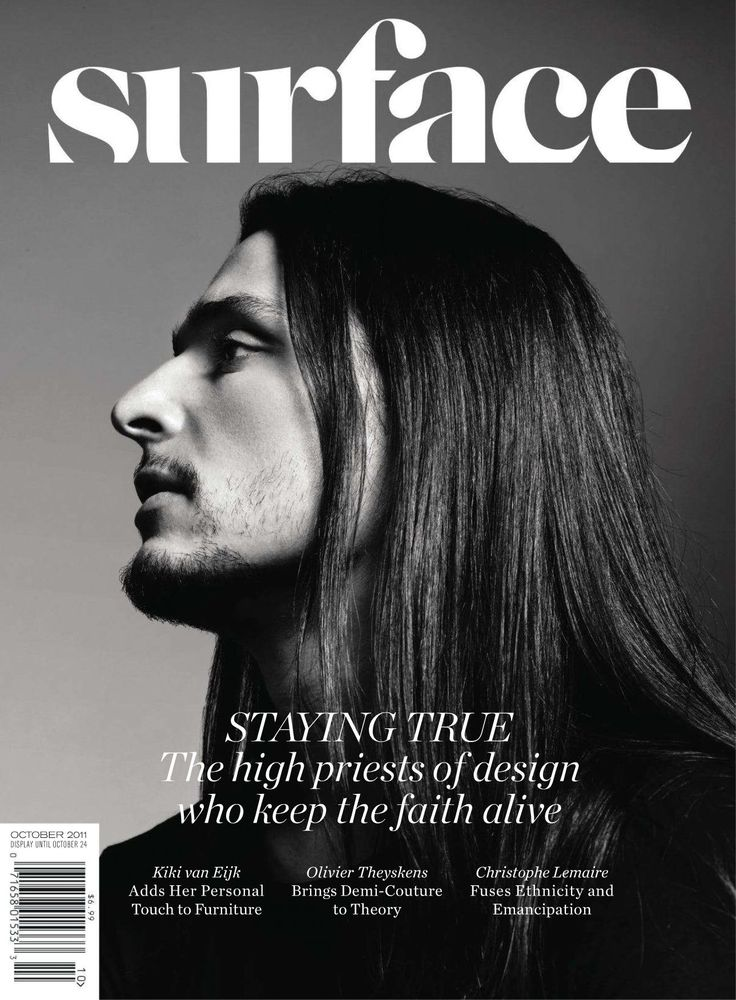 Surface Magazine Cover Black And White Design