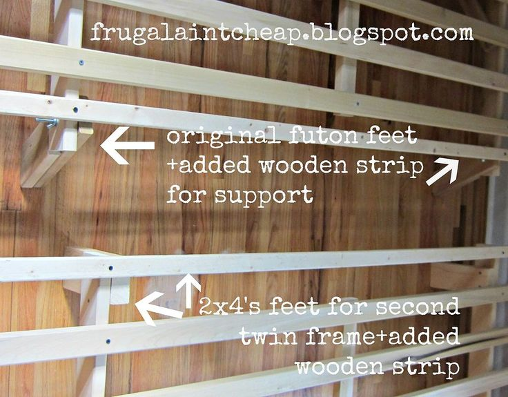 1 futon frame turned into 2 twin size bed frames - Twin Size Wood Bed Frame