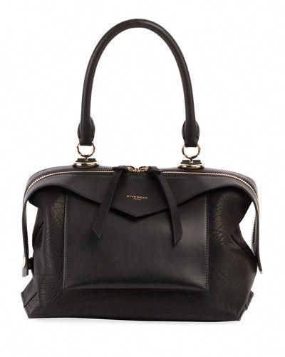 GIVENCHY SWAY SMALL LEATHER TOP-HANDLE BAG.  givenchy  bags  shoulder bags  hand  bags  leather  lining    Designerhandbags 04e0568ad0ea1