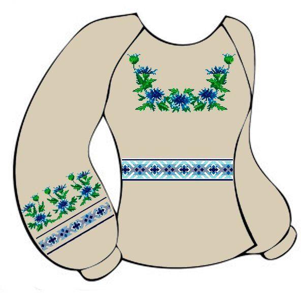 Льняная серая детская вышиванка ВДЛ-002С с поясом