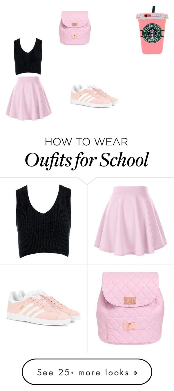 """""""the school colection#35"""" by icalabrese on Polyvore featuring Sans Souci, Design Inverso and adidas Originals"""
