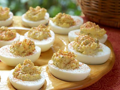 Basic Deviled Eggs | I used homemade compliant mayo and switched out the relish with a few splashes of white wine vinegar.