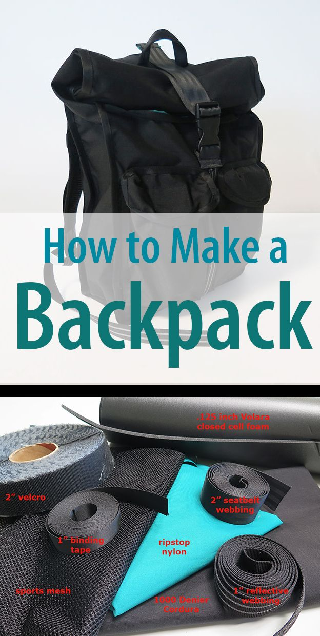 Design, prototype, and sew a custom backpack. On the bucket list!