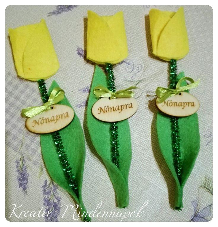 Kreatív tulipánok nőnapra - women's day #nőnap #womensday #felt #felttulip #feltflower #filctulupán #filcvirág #kreatívajándék #creativegift #kreativmindennapok