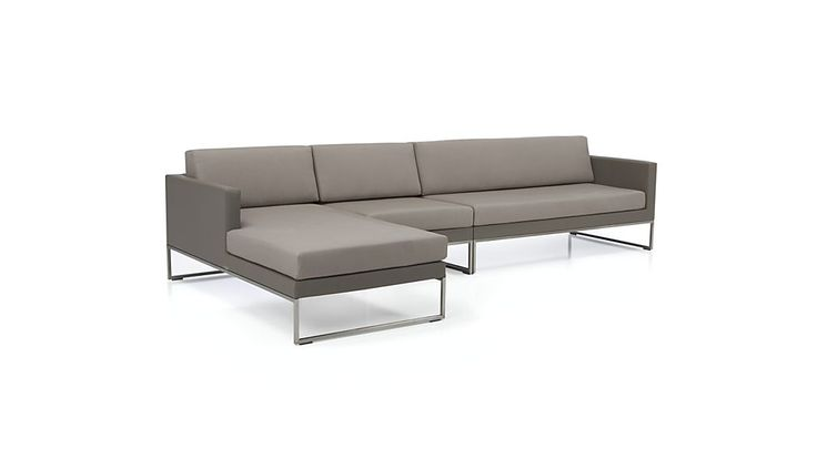 Dune 3-Piece Sectional Sofa with Cushions | Crate and Barrel