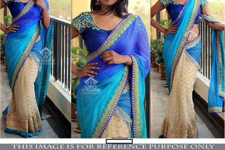 Blue Designer Bollywood Party Wear Saree (Z)