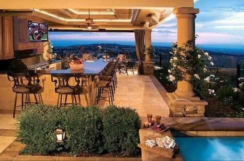 outdoor kitchenKitchens Design, Living Spaces, Outdoor Living, The View, Outdoor Patios, Outdoor Kitchens, Outdoor Spaces, Outdoor Bar, Dreams Patios