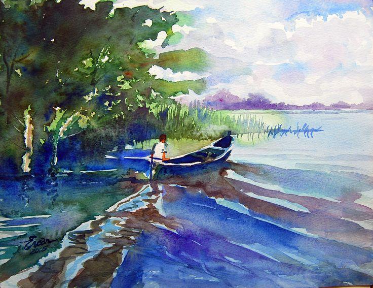 Fisherman in  Lake İznik-Bursa-TURKEY