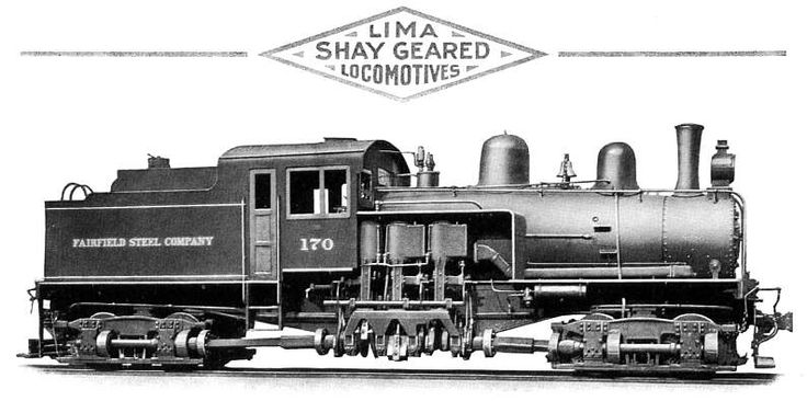 Shay Geared Locomotive (Geared locomotive were used in the lumber industry - slow but powerful)