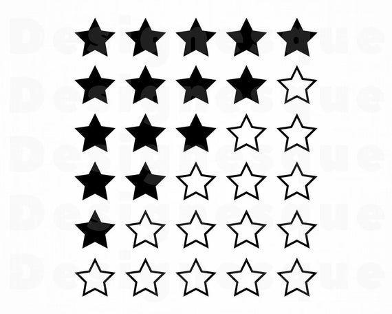 5 Star Review Svg Reviews Svg Stars Svg Rating Svg Star Etsy Star Svg Vinyl Nail Art Svg
