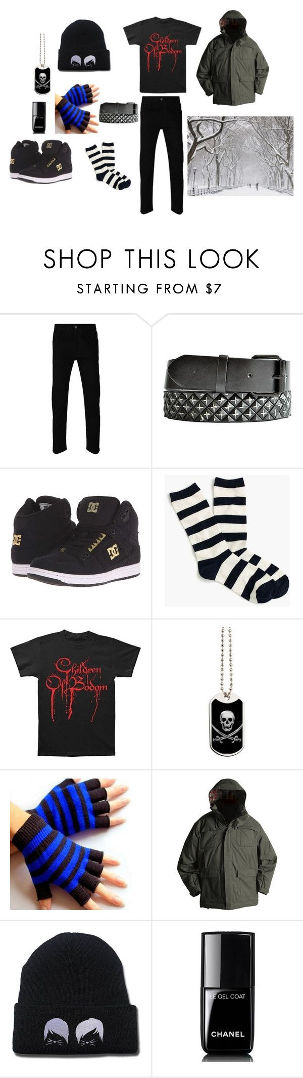 """Emo Winter Outfit"" by wickedghostman94 on Polyvore featuring Gucci, DC Shoes, J.Crew, Chanel, men's fashion and menswear"