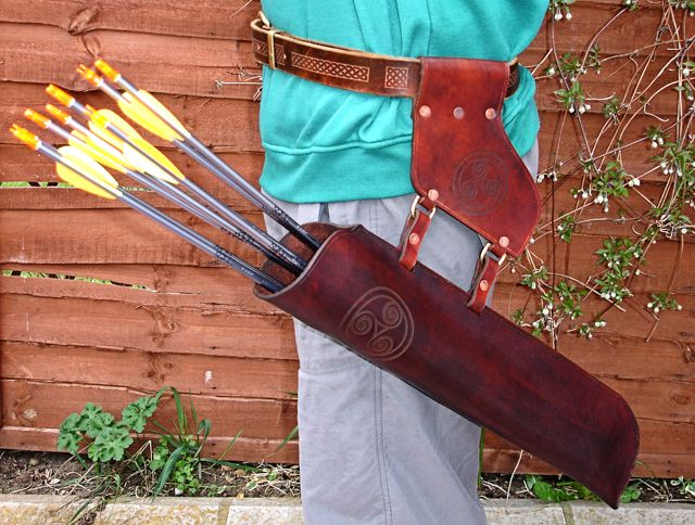 DIY Leather Quiver, and it's real cool, but all I can see is the water tribe symbol on the quiver.