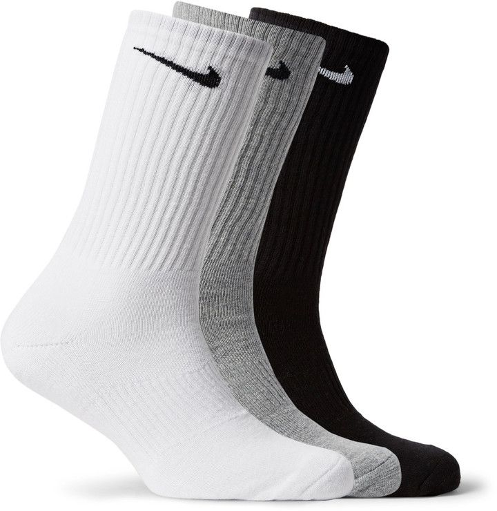 Three-pack Cushioned Cotton-blend Socks Nike Clearance Official Site tIal1Xszii