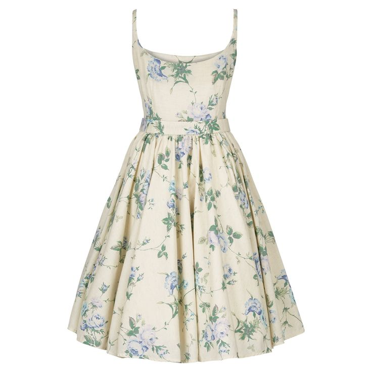 Katie Dress roses blue - Outlet - Online Store - Lena Hoschek Online Shop