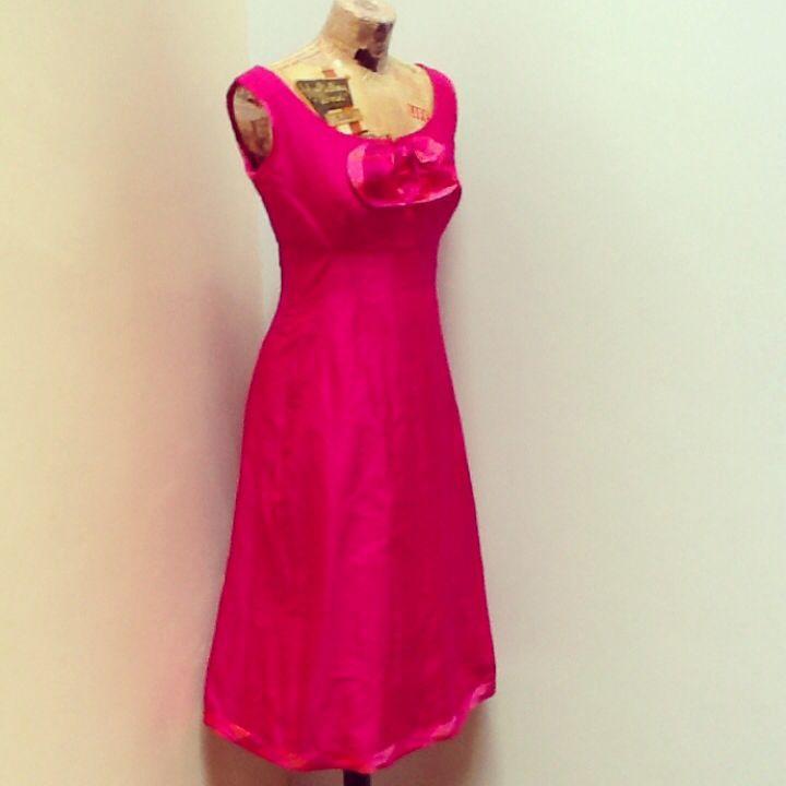 Miss Daisy Blue pink raw silk dress