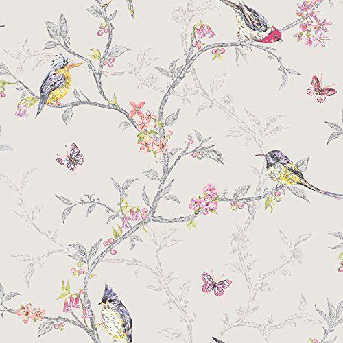 Phoebe Birds Wallpaper - Dove Grey - 98081 by Phoebe Bird... https://www.amazon.com/dp/B01HR4IUQ2/ref=cm_sw_r_pi_awdb_x_X3RyybCRC9FDD