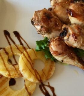 Mπουτάκια κοτόπουλου με μέλι, σόγια και λεμόνι