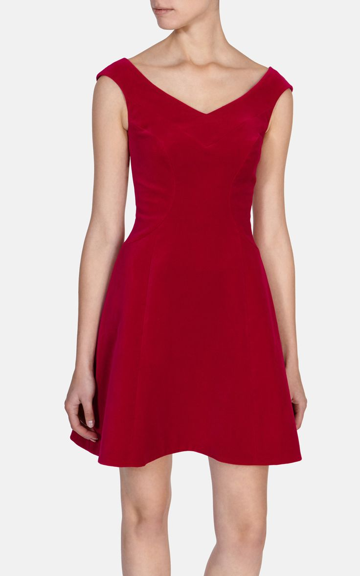 Red velvet dress, Karen Millen, $300. I want/need this to wear to Christmas parties and concerts. Too bad it's too gorgeous to ever go on sale.